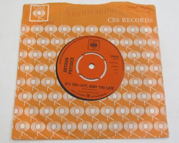 "Arthur Prysock IT'S TOO LATE BABY, TOO LATE 1965 UK 7"" EX+ AUDIO"